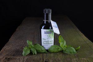 Sannis Bio Leinöl mit Basilikum